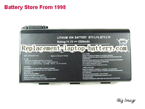 MSI BTY-L74 Battery 5200mAh Black