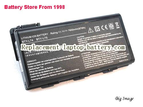 MSI 957-173XXP-101 Battery 7800mAh Black