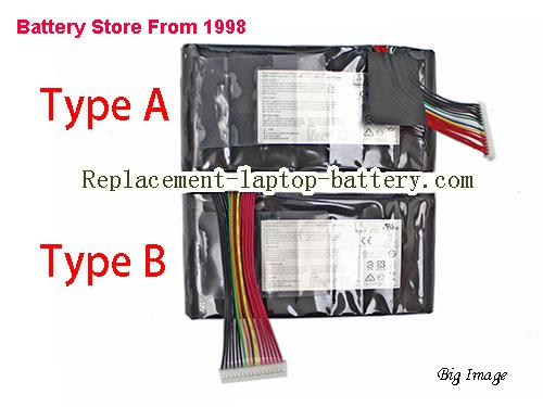 MSI GT73VR Battery 5225mAh, 75Wh  Black