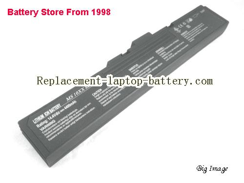 MSI MS 1039 Battery 4400mAh Black