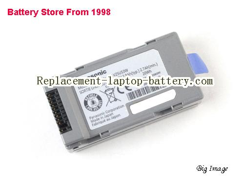 CF-VZSU53 CF-VZSU53W Battery For Panasonic Toughbook CF-H1 CF-U1 Series 7.2V 2.9Ah(typ.) 2.7Ah(min) 20Wh