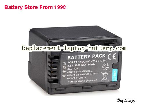 PANASONIC HCV720MGK Battery 3900mAh, 14Wh  Black