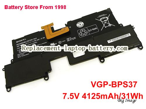 SONY VAIO SVP112A1CL Battery 4125mAh, 31Wh  Black