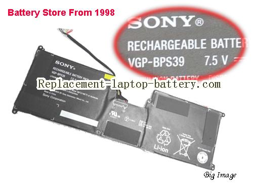 SONY VAIO SVT1122C5E Battery 3800mAh, 29Wh  Black