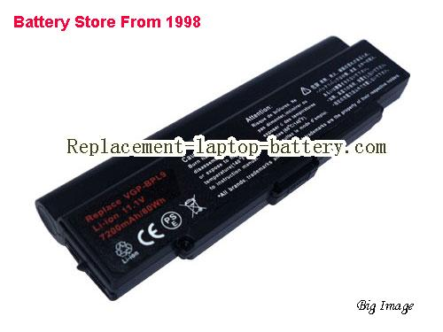 SONY VAIO VGN-NR385 Battery 6600mAh Black