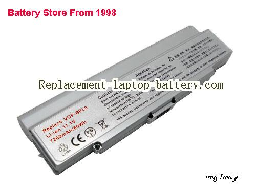 SONY VAIO VGN-NR385 Battery 6600mAh Silver