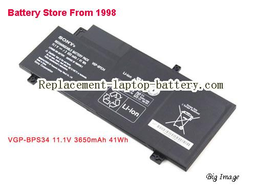 SONY SVF14A18SCB Battery 3650mAh, 41Wh  Black