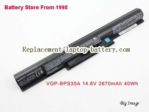SONY Vaio SVF152C29L Battery 2670mAh, 40Wh  Black