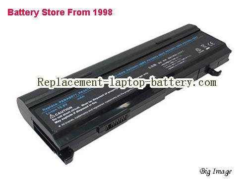 TOSHIBA Tecra A5-S118 Battery 6600mAh Black