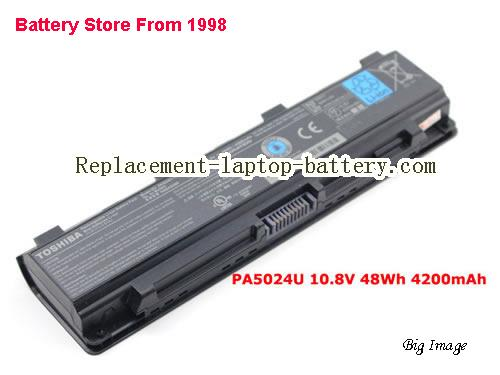 TOSHIBA C805-S22B Battery 4200mAh, 48Wh  Black