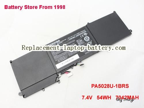 TOSHIBA Satellite U840 Battery 7042mAh, 54Wh  Black