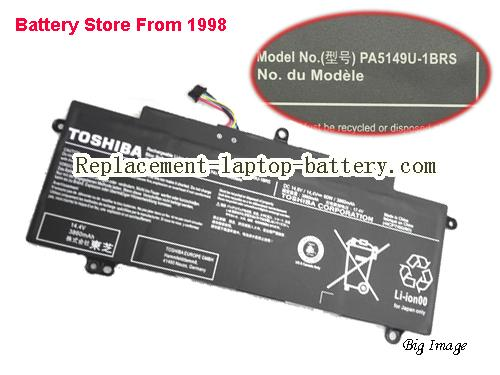 TOSHIBA Tecra Z50-A-148 Battery 3860mAh, 60Wh  Black