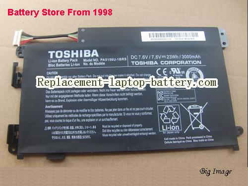 TOSHIBA W35DT-A3300 Battery 3000mAh, 23Wh  Black