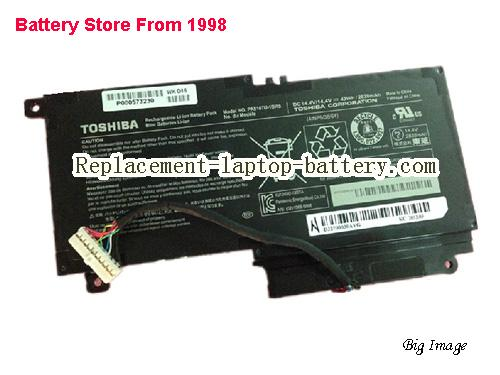 TOSHIBA Satellite P50. 01600l Battery 2838mAh, 43Wh  Black