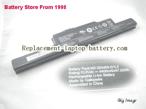 Genuine I40-3S4400-G1L3 Battery For Uniwill Founder R410 Laptop 52Wh