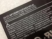 Genuine ACER 1ICP483103-2 Battery Li-ion 3.7V 7300mAh, 27Wh  Black