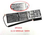 ACER 3ICP7/67/90 Replacement Laptop Battery Li-Polymer 11.1V 4850mAh, 54Wh  Balck