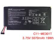 Genuine ASUS C11-ME301T Battery Li-Polymer 3.75V 5070mAh, 19Wh  Black