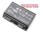 Original Laptop Battery for  5200mAh METABOX Pro P170SM-A,