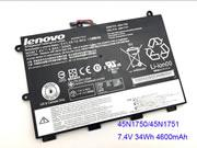 Genuine LENOVO 45N1749 Battery Li-Polymer 7.4V 34Wh Black