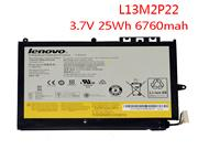 Genuine Lenovo MIIX2 10 Inch Laptop Battery L13M2P22 L13N2P21 , Li-Polymer, 6-Cells