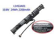 Genuine LENOVO IdeaPad 100-15IBY(80MJ00CLGE) Battery Li-ion 10.8V 2200mAh, 24Wh  Black