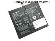 For LENOVO IdeaPad Miix 700-12ISK -- Genuine LENOVO IdeaPad Miix 700-12ISK (80QL0029GE) Battery Li-Polymer 7.6V 40Wh Black