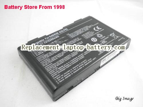 image 1 for Battery for ASUS K40IE Laptop, buy ASUS K40IE laptop battery here