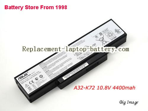image 1 for Battery for ASUS K73SV-TY291V Laptop, buy ASUS K73SV-TY291V laptop battery here