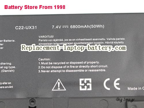 image 3 for Battery for ASUS Zenbook UX31A-R4005V Laptop, buy ASUS Zenbook UX31A-R4005V laptop battery here