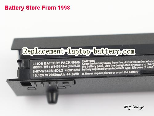 image 2 for Battery for CLEVO W840SN Laptop, buy CLEVO W840SN laptop battery here