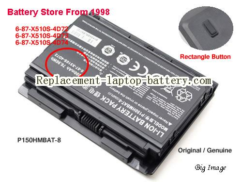 image 1 for 6-87-X510S-4D73, CLEVO 6-87-X510S-4D73 Battery In USA