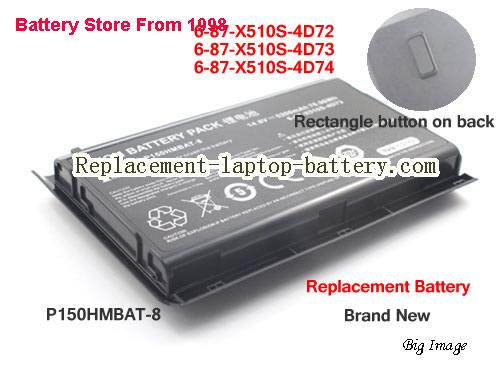 image 1 for 6-87-X510S-4D72, CLEVO 6-87-X510S-4D72 Battery In USA