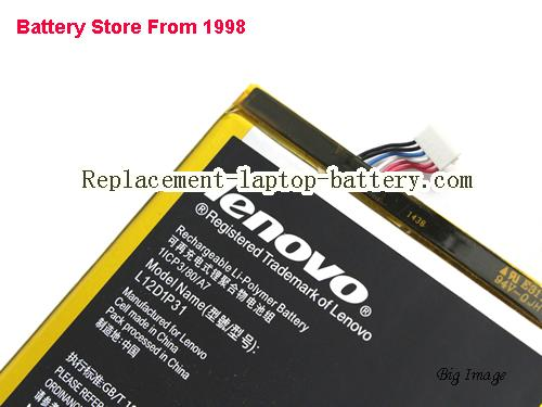 image 3 for Genuine New Lenovo A3000 A3000-H A5000 IdeaTab PC Battery L12D1P31