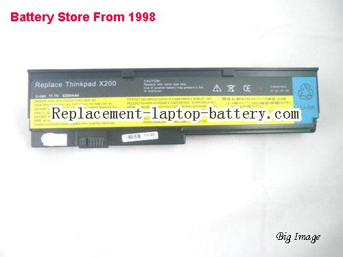 image 5 for Lenovo IBM FRU 42T4538 ASM 42T4539 Thinkpad X200 Replacement Laptop Battery