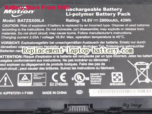 image 2 for Battery for MOTION R12 tablet Laptop, buy MOTION R12 tablet laptop battery here