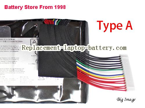 image 4 for Battery for MSI GT73VR Laptop, buy MSI GT73VR laptop battery here