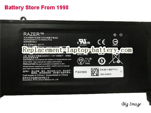 image 2 for Battery for RAZER RZ09-01161R32 Laptop, buy RAZER RZ09-01161R32 laptop battery here