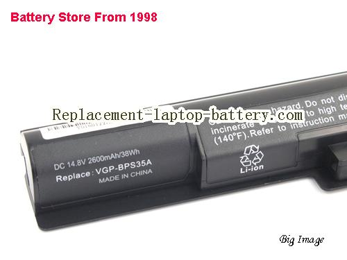 image 2 for Battery for SONY F1521V3CW Laptop, buy SONY F1521V3CW laptop battery here