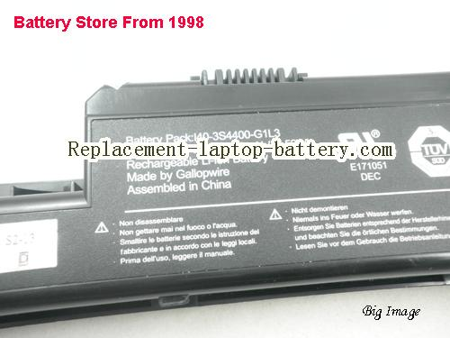 image 5 for Genuine I40-3S4400-G1L3 Battery For Uniwill Founder R410 Laptop 52Wh